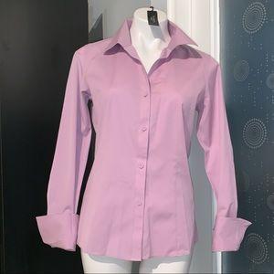 New Talbots Wrinkle Resistant Purple Career Shirt